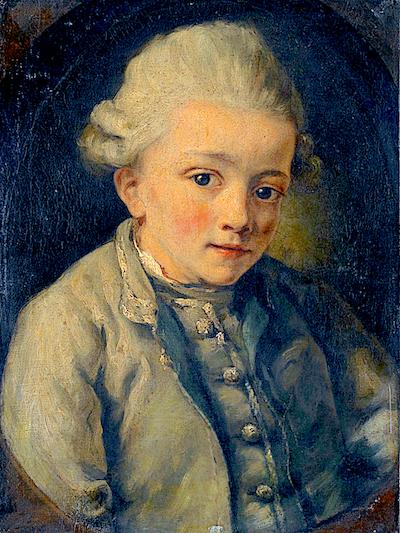Mozart als Bub