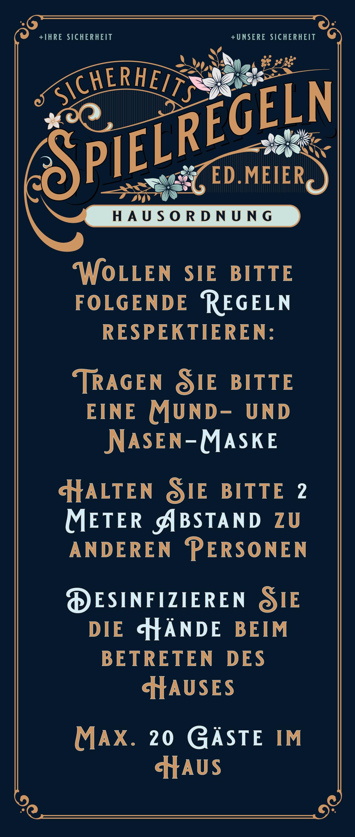 Eintrag in die Mailingliste von Ed.Meier München - Einladungen zu Veranstaltungen und Informationen zum Haus und seinen Produkten