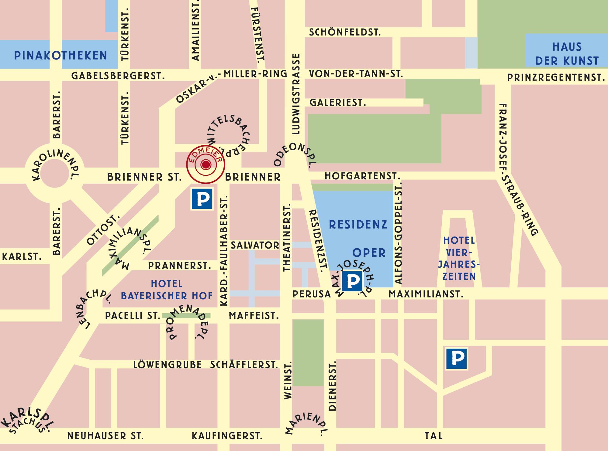 EdMeiers wunderbare neuen Räume an der Brienner Straße - EdMeier´s new location at Brienner St. 10